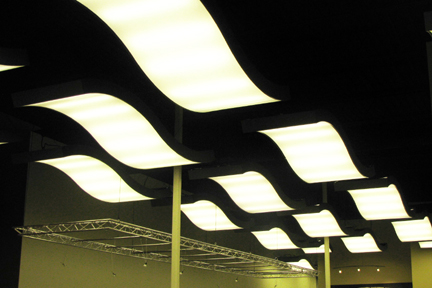 Wave Light Fixtures Office Lighting Project Example P32